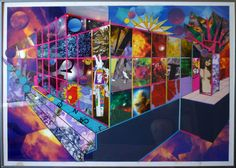 Rocketier 2007 Drawing and Collage 70x50cm
