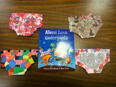 Aliens Love Underpants. Letter Uu