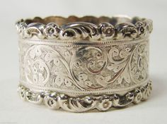 Antique Sterling Silver Napkin Ring Birmingham 1905