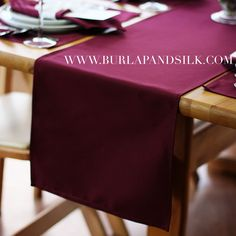 Burgundy Table Runner 14 X 108 inches