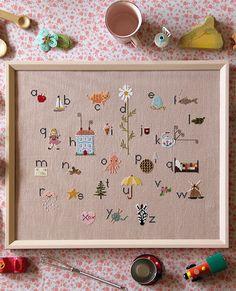 My Sweetiepie ABCs Cross Stitch Sampler Pattern