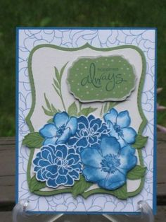 Anniversary in Blues by Birddee - Cards and Paper Crafts at Splitcoaststampers