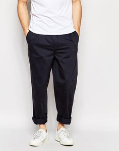 Image 1 ofADPT Pleated Chinos In Wide Leg Fit