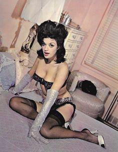 Model Velvet Brown in French Frolic Magazine c. 1960s