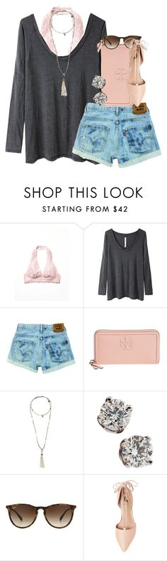 """the fosters blows my mind"" by thefashionbyem ❤ liked on Polyvore featuring Free People, Raquel Allegra, Tory Burch, Bettina Duncan, Tiffany & Co., Ray-Ban, Ava & Aiden, women's clothing, women and female"