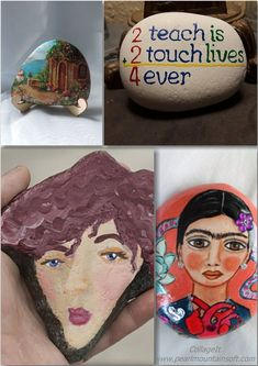 Creative Ideas for Making Painted Rocks Easy Rock Painting Ideas for Beginners easy rock painting ideas that will inspire you Fun Ideas, Creative Ideas, Painted Rocks Kids, Rock Painting Ideas Easy, Beginner Painting, Stencil Painting, Easy Paintings, Stones, Inspire