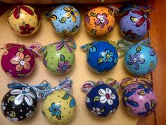 Handpainted ornaments!