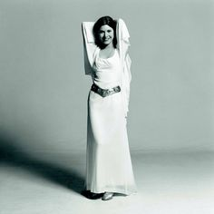 Carrie Fisher as Leia.