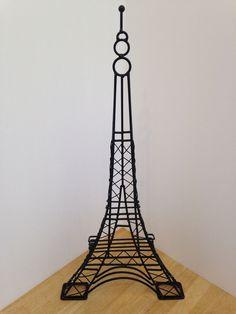 Wire Metatl Black Paris Eiffel Tower Sculpture Home Decor #Unbranded