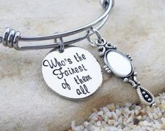Bangle - Bracelet - Disney - Villain - Jewlery - Hand Stamped - Stamped Jewelry - Custom - Fairest of the All - Gift - Gift for her