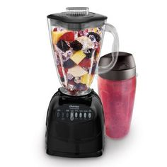 Oster Simple Blend 100 10 Speed Blender with Blend and Go Cup, Black Oster Blender, Mini Blender, How To Make Smoothies, Healthy Smoothies, Green Smoothies, Detox Smoothies, Smoothie Recipes, Specialty Appliances, Kitchen Appliances