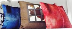 GENUINE FUR PILLOWS (DYED IMPALA FUR AND COWHIDE) INTERESTED IN PURCHASING? CONTACT yoso@hotmail.ca
