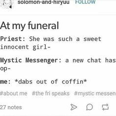 Mysic Messenger funny