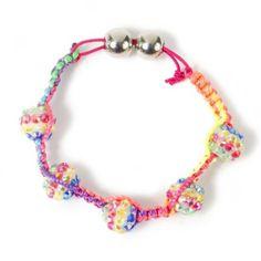 Rainbow Shamballa Style Cord Bracelet $5.00 claires.com