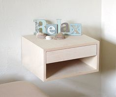Floating night stands, attach to the wall.  Made to order - Dimensions - 19 width x 15 depth x 8 height  2 Birch, Floating night stands, with