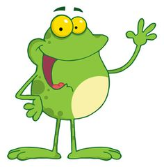 Free Cartoon Frog Waving on Frog Clipart Free Clipart Images, Royalty Free Clipart, Frosch Illustration, Shine The Light, Frog Art, Cute Frogs, Safari Theme, Frog And Toad, Painted Rocks