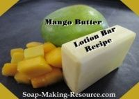 Mango Butter Lotion Bar Recipe
