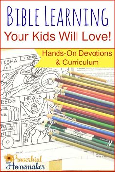Hands-On Bible Learning for family devotions or homeschool curriculum! Love this approach to teaching the Bible.