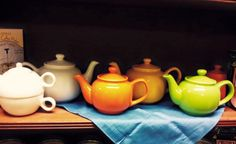 The colorful teapots instead Webster's