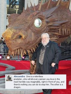 Spot the Difference: George R. R. Martin vs. Dragon [Pic]