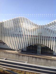 Reggio Emilia train station Italy By Santiago Calatrava