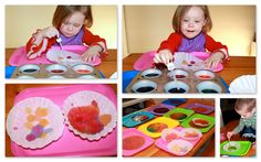 Drip drop painting with color. Delightful Learning: The Runaway Bunny {Before FI♥AR}