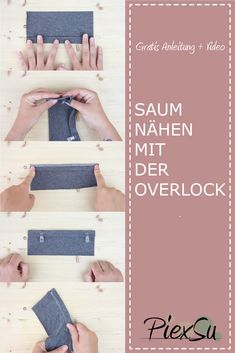Ourlet flatlock - ourlet avec la machine à coudre overlock - PiexSu - Nähideen - Sewing Projects For Beginners, Sewing Tutorials, Sewing Hems, Fat Quarter Projects, Leftover Fabric, Love Sewing, Hand Sewing, Sewing Patterns Free, Fabric Scraps