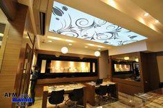 Stretch Ceiling and Leds Work, motif designs, Emre Kuyumculuk Beşiktaş/İstanbul/Turkey