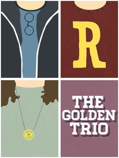 The Golden Trio Harry Potter Hermione Granger and Ronald Weasley!