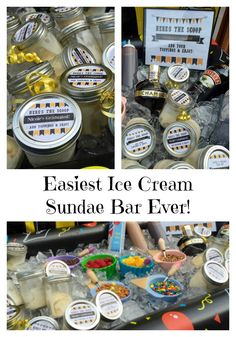 Easiest Ice Cream Sundae Bar Ever! #BetterTogether #Evite