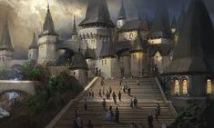 Fantasy City, Fantasy Castle, Fantasy Places, Medieval Fantasy, Sci Fi Fantasy, Fantasy World, Beaux Arts Architecture, Fantasy Setting, Fantasy Inspiration