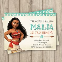 MOANA INVITATION FOR YOUR LITTLE GIRLS BIRTHDAY PARTY! (Card Size: 5x7) ------------------------------------------------------- ........... HERES HOW IT WORKS ........... ------------------------------------------------------- 1. Select the file format you will need for your printing