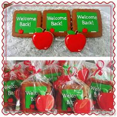 Jackie Williams Broome: Back to school cookies for some deserving teachers Teachers' Day, School Teacher, Decorated Cookies, Royal Icing, Cookie Decorating, Back To School, Entering School, Back To College, Decorated Sugar Cookies