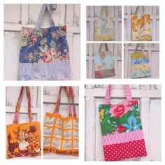 25 OFF SALE Garden Tote BagLibrary by whimsiedots on Etsy