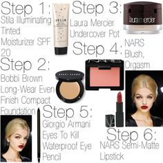 """My Everyday Makeup Look, Step by Step"" by paula-v ❤ liked on Polyvore"