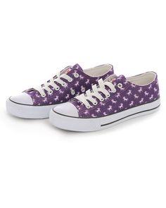 726ccb84f482 Purple Unicorn Print Sneakers - Shoes - Accessories Purple Sneakers