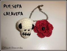 Black Discordia Crochet Earrings, Blog, Jewelry, Skulls, Bracelet, Creativity, Amigurumi, Jewlery, Bijoux