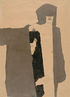 Egon Schiele -Paar- 1909.