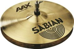 """Sabian 13-inch Fusion AAX Hi Hat Cymbals by Sabian. $274.95. SABIAN 13"""" AAX Fusion Hats are fast, controlled and cutting. The powerful """"fusion"""" of an AAX top with a heavy, unlathed, air-vented bottom provides crisp, clear pedal """"chick"""" and virtually eliminates air-lock. The SABIAN AAX series delivers consistently bright, crisp, clear and cutting responses – AAX is the ultimate Modern Bright sound!. Save 43% Off!"""