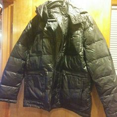 Men's black Kenneth Cole hooded puffer jacket! Never been worn, hooded men's puffer jacket. Got it for my guy but it didn't fit. Extremely warm and new with tags. Kenneth Cole Jackets & Coats Puffers