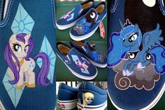 Rarity and Luna Slip-Ons by psaply.deviantart.com