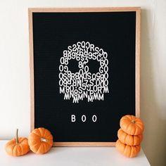 So ready for Halloween! Halloween Letters, Halloween Crafts, Halloween Decorations, Outdoor Decorations, Felt Letter Board, Felt Letters, Felt Boards, Letterboard Diy, Diy Hack