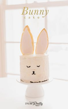 Bunny cake recipe: http://www.stylemepretty.com/living/2015/03/27/diy-bunny-cake/