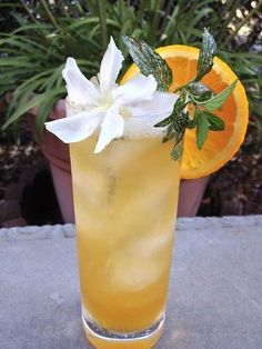 Orange-Ginger Brewjito // Cool yourself off with this gorgeous craft beer cocktail! #craftbeer #beer #cocktail #recipe