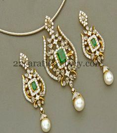 Latest indian gold and diamond jewellery designs platinum diamond jewellery designs latest pretty diamond pendant earrings aloadofball Images
