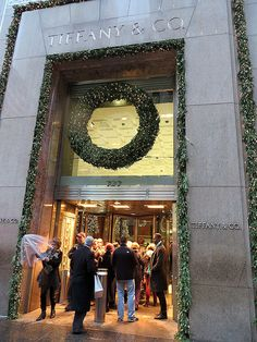 Tiffany & Co. at Christmas, 727 Fifth Avenue, New York City. New York City Christmas, Christmas Time, Christmas Decor, A New York Minute, New York Winter, City That Never Sleeps, Concrete Jungle, Tiffany And Co, New York Travel