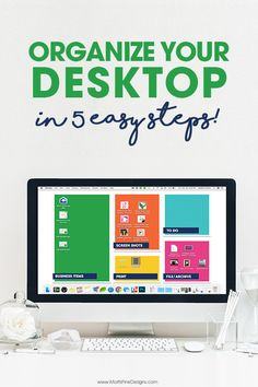 I know how messy your computer desktop can be, because mine was always a mess! Then I created these Desktop Organization Backgrounds and got my computer desktop organized in less than 5 minutes! I'll show you how step-by-step. Computer Basics, Computer Help, Computer Programming, Computer Tips, Desktop Organization, Office Organization, Application Utile, Technology Hacks, Ideas Prácticas