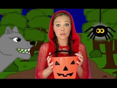 Halloween Songs for Children and Kids - Ten Scary Steps - This spooky Halloween song for children presents Little Red Riding Hood taking some very scary step - Kids Halloween Songs, Halloween Rules, Halloween Season, Spooky Halloween, Big Bad Wolf, Red Riding Hood Wolf, Fairy Tale Crafts, Nursery Rhymes Collection, Mickey Mouse