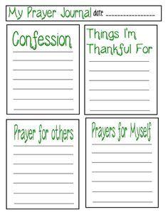 Teaching Kids to Pray: Prayer Journal Template   Prayer journal ...