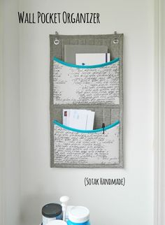 DIY: wall pocket organizer